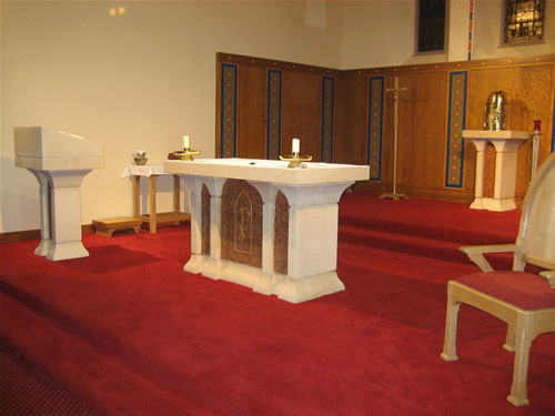 The Sanctuary with all the new furniture.